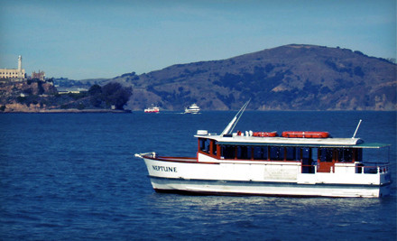 One scenic boat voyage with appetizers and either 4 wine tastings or one alcoholic (or non alcoholic) beverage - San Francisco Bay Boat Cruises, LLC. in San Francisco