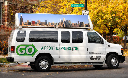 One-way transportation to or from Midway or O'Hare - GO Airport Express in