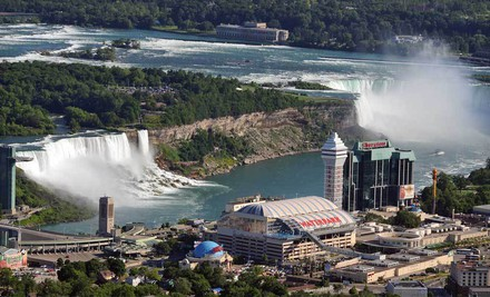 Crowne Plaza Niagara Falls Fallsview 01 medium $159 for a One Night Stay at Crowne Plaza – Fallsview Hotel in Niagara Falls, ON (Up to $279 Value)