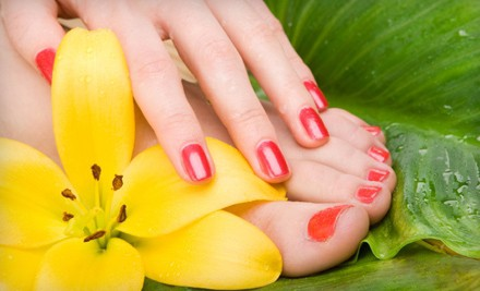 or CND Acrylic Nails at Polished Nail Salon and Spa (Up to 56% Off