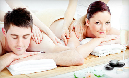 Body Melt massage treatment and a glass of champagne for one person - Mind & Body Day Spa in Alpharetta