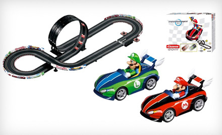 IMAGE Electronic Slot Car Sets Carrera o medium $59 for a Go!!! Mario Wii or Spider Man Slot Car Racing Set (Up to $119.99 List Price). Free Shipping.
