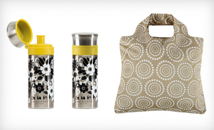 IMAGE Envirosax bundles1 medium Two Envirosax Slingsax or a Water Bottle and Organic Series Bag Bundle (Up to 61% Off). Multiple Styles Available.