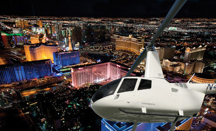 A nighttime Vegas Strip helicopter tour for one - 702 Helicopters in North Las Vegas