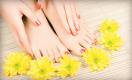 Spa manicure with gel polish and a spa pedicure - Studio 21 Salon and Spa in Nashville