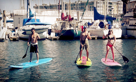 A two-hour standup paddleboard group lesson for one - Marina Paddle in Marina Del Rey