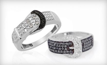 Groupon: $29 For A Diamond-Accented Buckle Ring ($100 List Price). Multiple Styles And Sizes Available. Free Shipping.