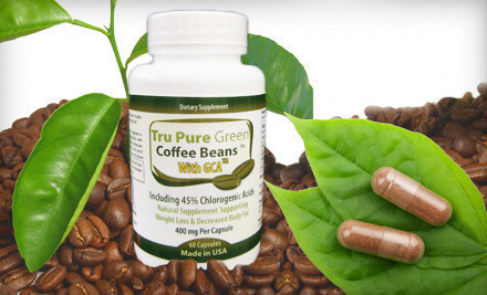 Groupon: 30-, 60-, Or 90 Day Supply Of Tru Pure Green Coffee Bean Extract With GCA And 45% Chlorogenic Acid (Up To 67% Off). Free Shipping.