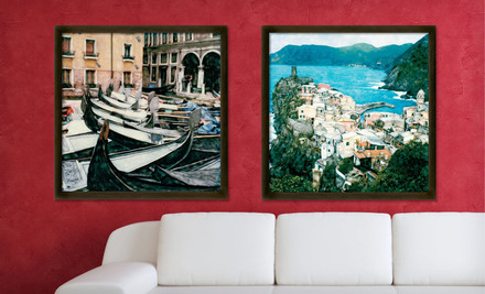 Groupon: $39 For A 24'x24' Framed Vintage-Style European Canvas Print ($175 List Price). Free Shipping. 15 Options Available.
