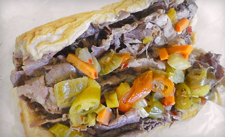 $60 Groupon toward party packs - Spalla's Chicago Italian Beef in Natick