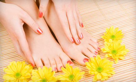 One classic manicure and deluxe pedicure - Jasmine Salon in San Jose