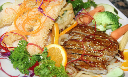 $40 Groupon with two glasses of house wine or soda - Aodake Sushi & Steak House in Romeoville