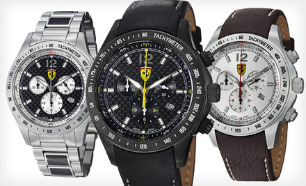 Groupon: Ferrari Men's Watches (Up To 69% Off). Multiple Styles Available. Free Shipping.