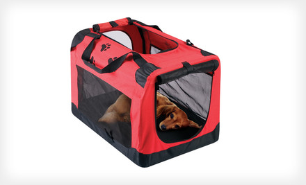 $29 for a Red Carrier for Dogs or Cats. Free Shipping and Returns
