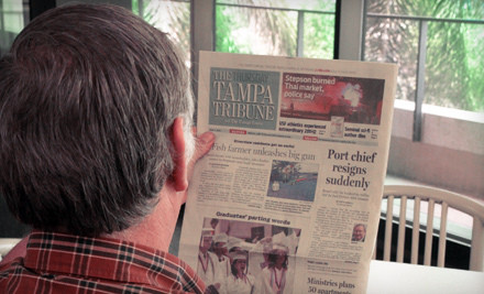 "Tampa Bay Area: 52-Week Sunday or Thursday–Sunday Subscription to ""The Tampa Tribune"" (Up to 78% Off)"