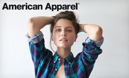 Washington DC: $25 for $50 Worth of Clothing and Accessories Online or In-Store from American Apparel in the US Only