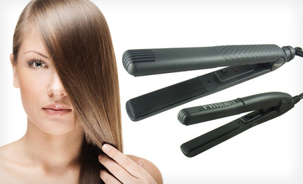 $29 for a Hair Straightener and Mini Iron in Black. Free Shipping and Returns
