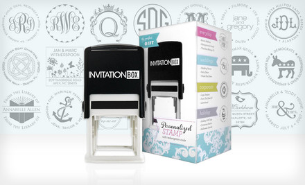 29 for a Personalized Self-Inking Stamper from InvitationBox ($49.99 ...