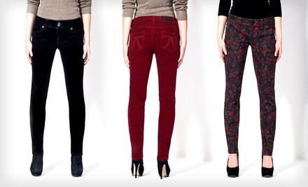 Abilene, TX: Seven7 Women's Skinny Corduroys or Printed Jeans (Up to 53% Off). Multiple Options Available. Free Shipping and Returns.