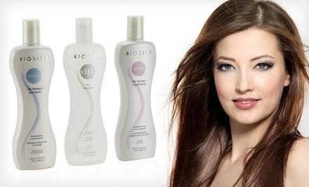 BioSilk Hair Therapy Shampoo, Conditioner, and Silk Serum $36 (Save 47%)