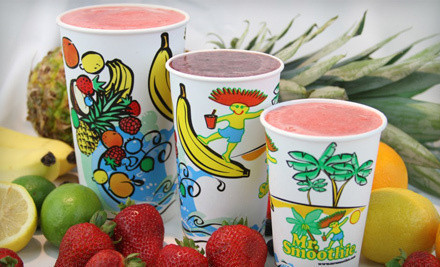 $5 for Smoothies and Wraps at Mr. Smoothie