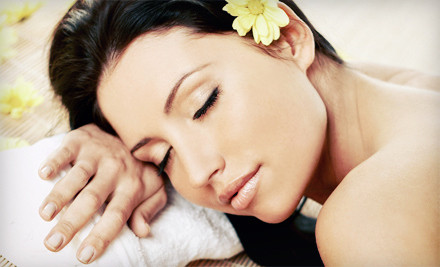 One Swedish or deep tissue massage with infrared foot treatment - The Atmosphere Day Spa in Baltimore