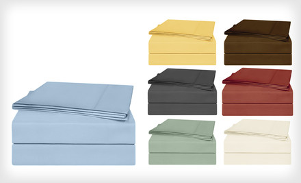 Egyptian Cotton Sateen Sheet Set Only $45 Shipped (Save 55%)