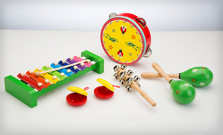 $20 for an Imagine Nation Band in a Box Set of Children's Instruments. Free Shipping and Returns