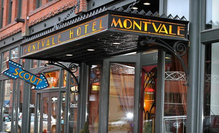 Spokane / Coeur d'Alene: One- or Two-Night Stay with Dining Credit and a Bottle of Wine at Montvale Hotel in Spokane, WA