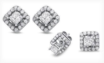 1/2- or 1-Carat White-Gold Diamond Stud Earrings with Removable Jackets. Free Shipping and Returns