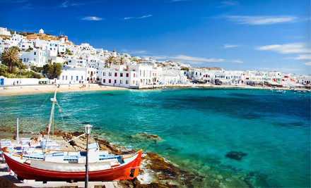 New York: Seven-Day, Five-Night Tour of Athens and Mykonos with Roundtrip Airfare and Hotels from Key Tours International