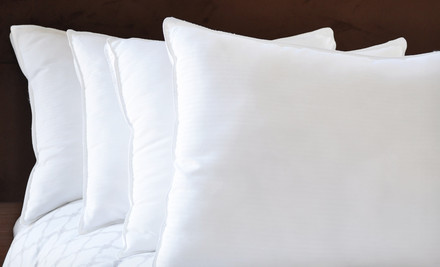 Four Natural Comfort Pillows from $44.99 Shipped